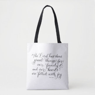 Nuestro verso inspirado de la tipografía de la bolsa de tela