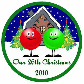 Nuestro vigésimo sexto ornamento 2010 del navidad escultura fotográfica
