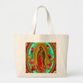 Nuestro Virgen María mexicano del santo de señora Bolsa Tela Grande