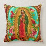 Nuestro Virgen María mexicano del santo de señora Cojín Decorativo