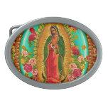 Nuestro Virgen María mexicano del santo de señora Hebillas Cinturon Ovales