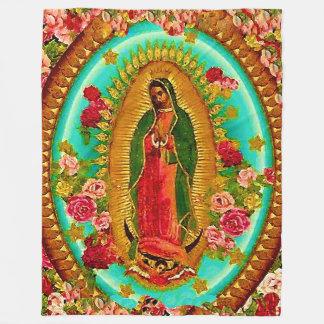 Nuestro Virgen María mexicano del santo de señora Manta De Forro Polar