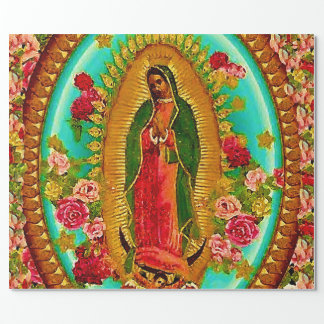 Nuestro Virgen María mexicano del santo de señora Papel De Regalo