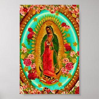 Nuestro Virgen María mexicano del santo de señora Póster