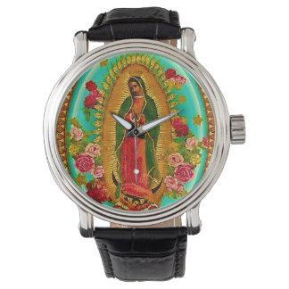 Nuestro Virgen María mexicano del santo de señora Reloj De Mano
