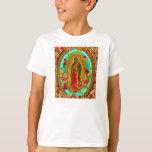 Nuestro Virgen María mexicano del santo de señora Remeras