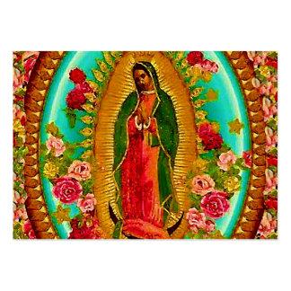 Nuestro Virgen María mexicano del santo de señora Tarjetas De Visita Grandes