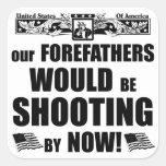 ¡Nuestros antepasados estarían tirando ahora! Calcomanías Cuadradases