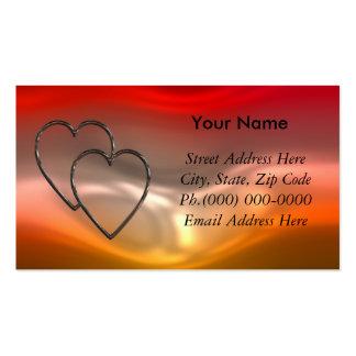 Nuestros corazones unidos tarjetas de visita
