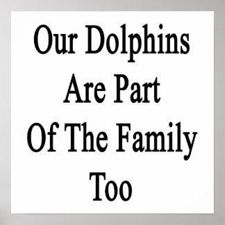 Nuestros delfínes son parte de la familia también posters