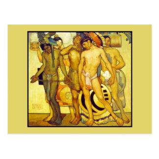 Nuestros dioses antiguos de Saturnino Herran Postal