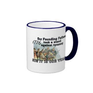 Nuestros fundadores contra tiranía tazas de café