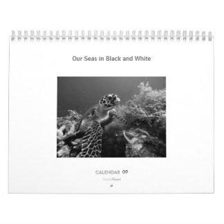 Nuestros mares en blanco y negro - calendario 2009