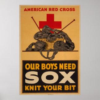 Nuestros muchachos necesitan la guerra mundial de  poster