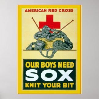 Nuestros muchachos necesitan la guerra mundial del poster