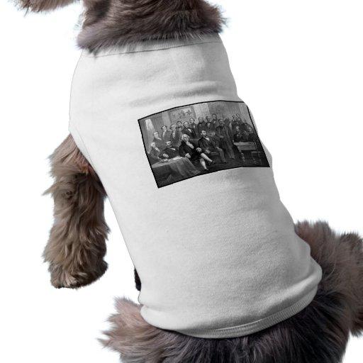 Nuestros presidentes 1789 - 1881 playera sin mangas para perro