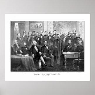 Nuestros presidentes 1789 - 1881 póster