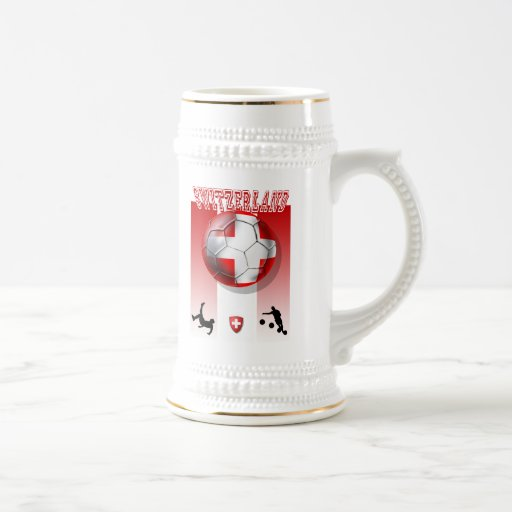 Nuestros regalos superventas del suizo de la bande jarra de cerveza