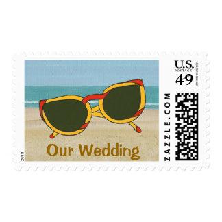 Nuestros sellos de la playa de las gafas de sol