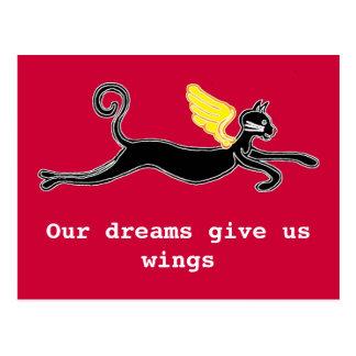 Nuestros sueños nos dan las alas tarjeta postal