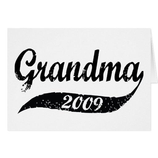 Nueva abuela 2009 tarjetas