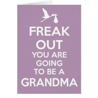 Nueva abuela a ser tarjeta de la invitación del