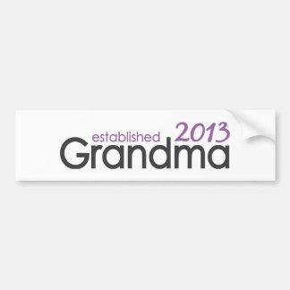 Nueva abuela Est 2013 Pegatina Para Auto