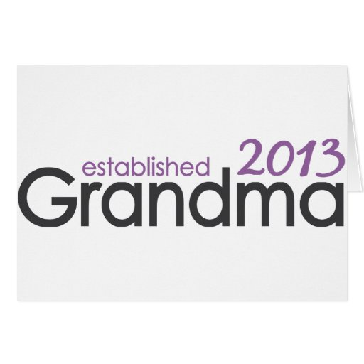 Nueva abuela Est 2013 Tarjeta De Felicitación