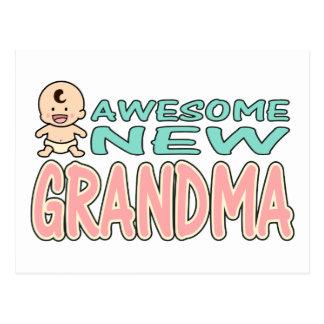 Nueva abuela impresionante tarjeta postal