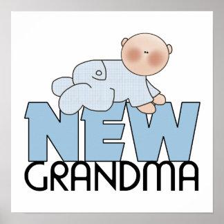 Nueva abuela, muchacho posters