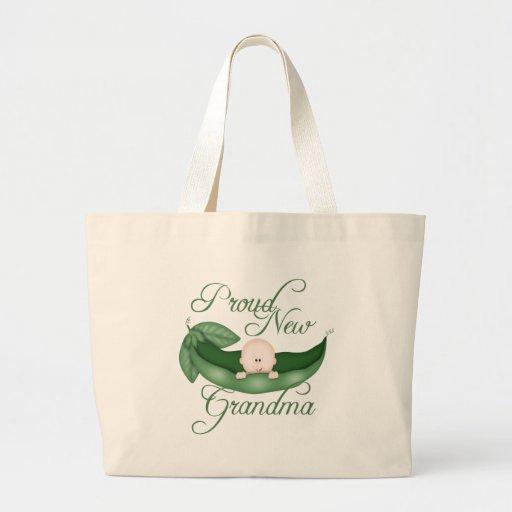 Nueva abuela orgullosa bolsa tela grande