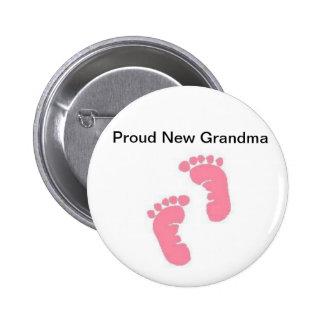 Nueva abuela orgullosa pin
