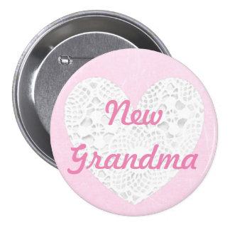 Nueva abuela que se jacta el botón de encaje pin redondo de 3 pulgadas