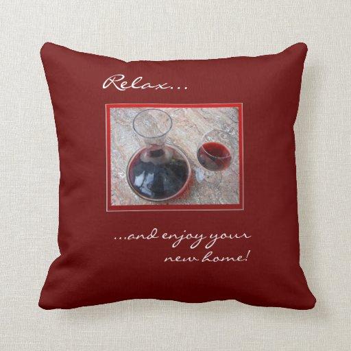 Nueva almohada casera del vino rojo