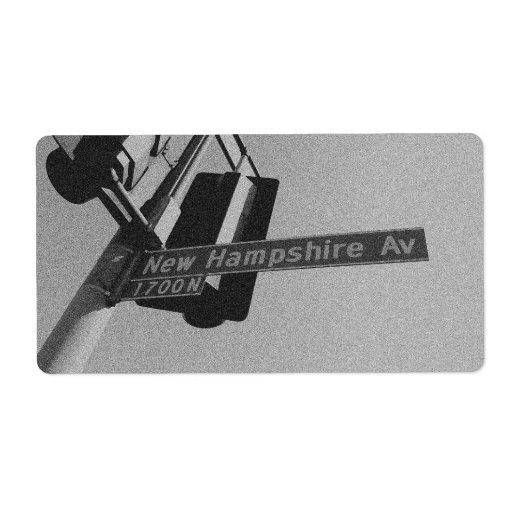 Nueva avenida de Hamsphire N 1700 Etiqueta De Envío