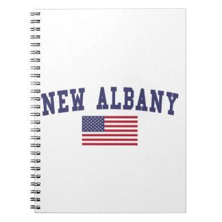 Nueva bandera de Albany los E.E.U.U. Libros De Apuntes