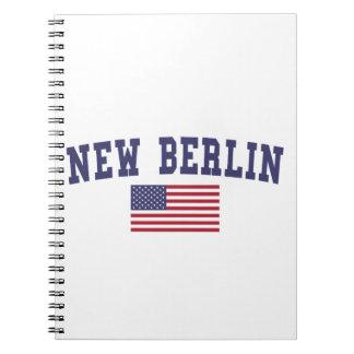 Nueva bandera de Berlín los E.E.U.U. Libro De Apuntes Con Espiral