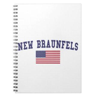 Nueva bandera de Braunfels los E.E.U.U. Libros De Apuntes