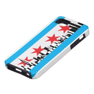 Nueva bandera de Chicago iPhone 5 Case-Mate Carcasa