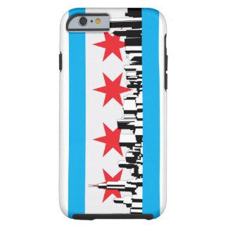 Nueva bandera de Chicago Funda De iPhone 6 Tough