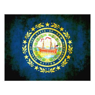 Nueva bandera de Hampshirite del contraste colorid Tarjeton
