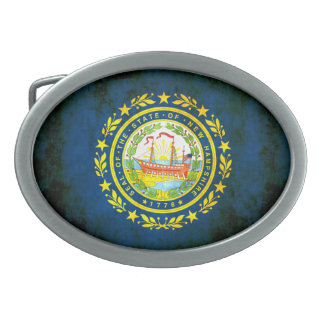 Nueva bandera de Hampshirite del contraste colorid Hebillas De Cinturón