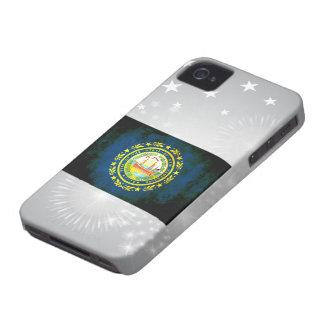 Nueva bandera de Hampshirite del contraste iPhone 4 Case-Mate Protectores