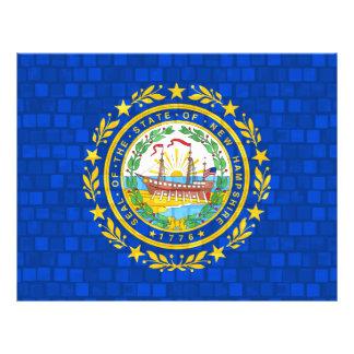 Nueva bandera de Hampshirite del modelo moderno Tarjetón