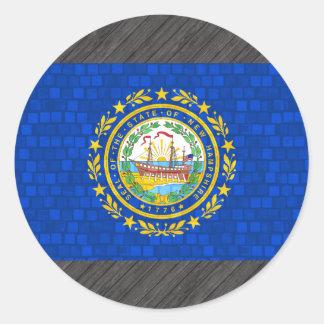 Nueva bandera de Hampshirite del modelo moderno Pegatinas Redondas