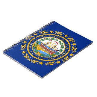 Nueva bandera de Hampshirite Libros De Apuntes Con Espiral