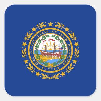 Nueva bandera de Hampshirite Pegatina Cuadradas Personalizada
