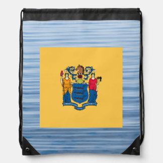Nueva bandera de Jerseyan que flota en el agua Mochila
