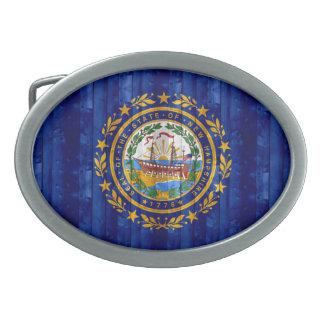 Nueva bandera de madera de Hampshirite Hebillas Cinturon Ovales
