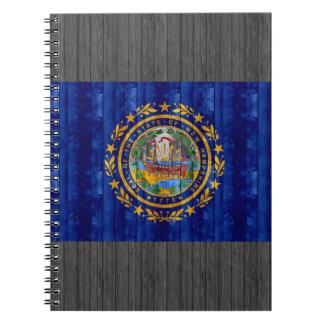 Nueva bandera de madera de Hampshirite Libreta Espiral
